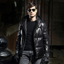 New Arrive Winter Young Men's Fashion Trend Sheepskin Outerwear Comfortable Warm Long Sleeve Down Jacket