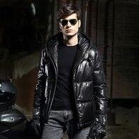 Nowy Przyjeżdża Zimą Młodych Mężczyzn Trend Mody Kożuch Odzieży Wygodne Ciepłe Długim Rękawem Kurtka Puchowa