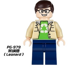 PG979 Super Heróis Big Bang Theory Penny Sheldon Leonard Howard do Filme Dos Desenhos Animados Modelo de Blocos de Construção Tijolos DIY Brinquedos Para As Crianças