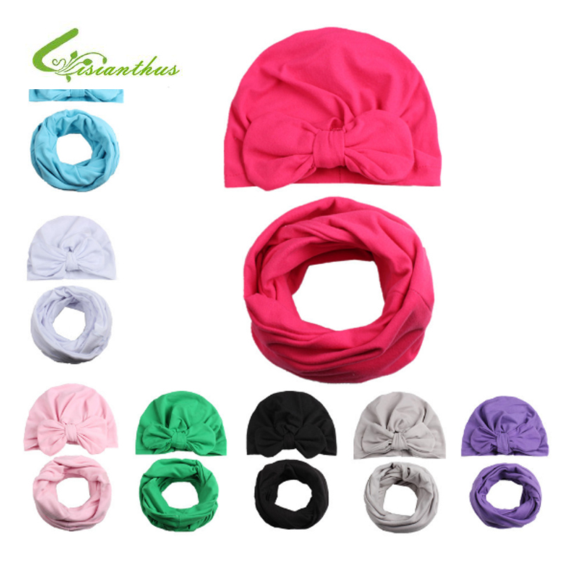 Spring Baby Hat Girl Boy Cap Kids Beanie Bohemia Style Infant Hat Cotton Children Collar Scarf Baby Cap Photography Props