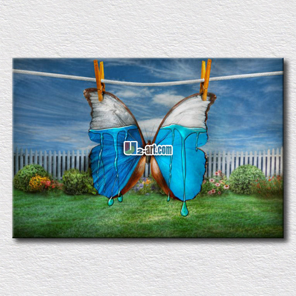 Genial Blue And White Butterfly Prints On Canvas Paintings Picture Hang On The  Modern Bedroom Wall In Painting U0026 Calligraphy From Home U0026 Garden On  Aliexpress.com ...