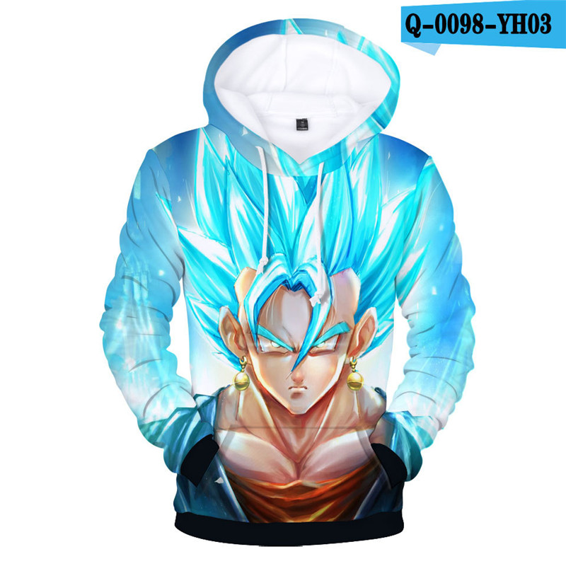 Womens Pullover Dragon Ball Z Hoodie Hooded Tracksuit Dragon Ball Cartoon Clothes Dragonball Z Women Clothes Cartoon Clothings