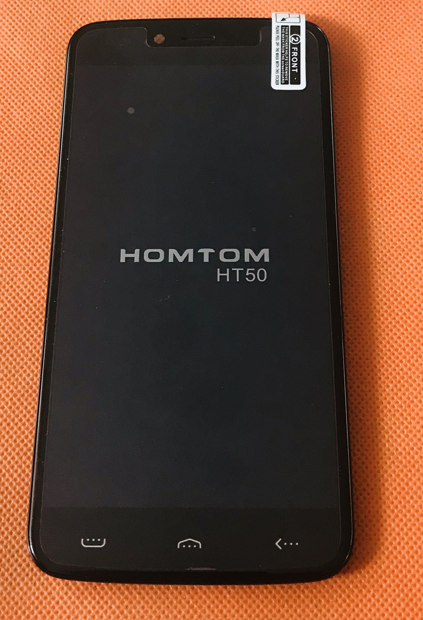 Used Original LCD Display +Digitizer Touch Screen+ Frame for HOMTOM HT50 MTK6737 Quad Core HD Free shipping(China)