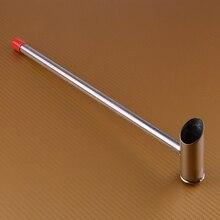 LETAOSK 1 قطعة الفولاذ المقاوم للصدأ ملعقة السكر من القطن آلة حلوى الخيط قطع الغيار 32 سنتيمتر الملاعق مقبض طويل دائم المطبخ أداة