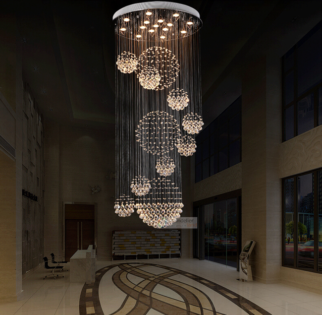 Various sizes fit 110 240v modern spiral sphere crystal chandelier various sizes fit 110 240v modern spiral sphere crystal chandelier staircase raindrop lighting led round pendant ceiling lamp in pendant lights from lights aloadofball Images