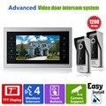 Homefong 7 Inch TFT LCD Color  Video Doorphone Doorbell Intercom System  Night Vision Touch Key  2 Outdoor 1200TVL Camera