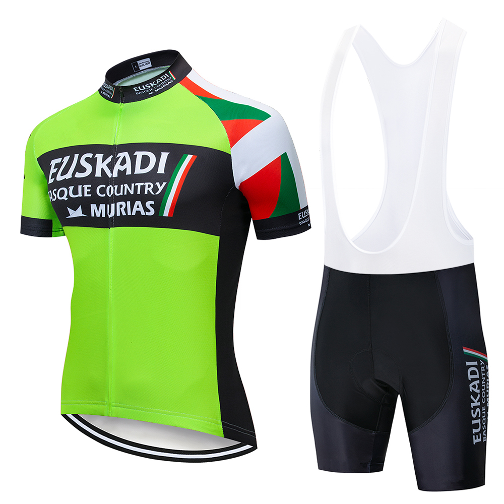 2019 Team EUSKADI cycling jersey 9D gel pad bike shorts set MTB VENDULL Ropa Ciclismo sobycle mens summer bicycling Maillot wear