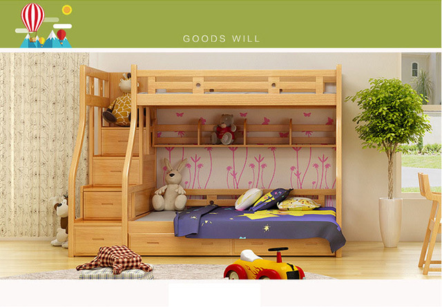 Kids Beds For Boys And Girls Bedroom Furniture Castle Bunk Bed Childrenu0027s  Twins Double Single Loft Bed HKc10