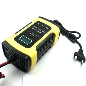 Image 4 - たわしウォッシュクリーニングツール 12 v 5A スマート鉛酸バッテリー充電器パルス修理充電器 lcd ディスプレイ