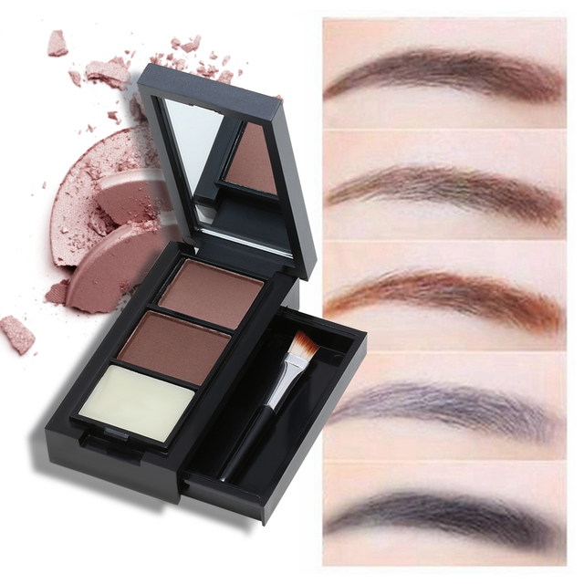 3 Colorset Professional Eye Shadow Eye Brow Makeup Eyebrow Powder