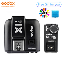 цена Godox X1T-S TTL HSS 2.4G Flash Transmitter Trigger + XTR-16S Receiver Set for Sony Camera V850 V860 онлайн в 2017 году