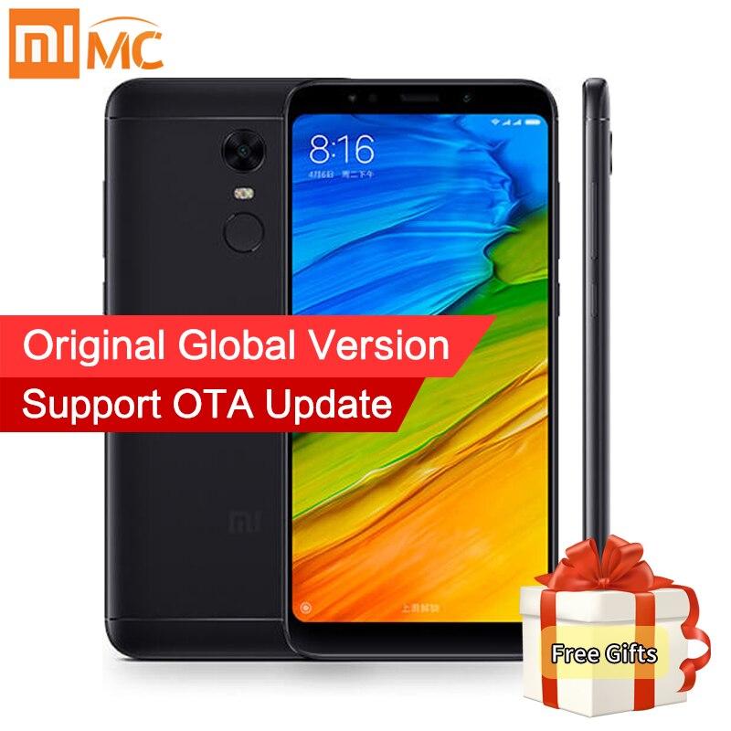Глобальная версия Xiaomi Redmi 5 плюс 3 ГБ 32 ГБ Мобильные телефоны 18:9 полный Экран Дисплей Snapdragon 625 Octa core 4000 мАч MIUI 9.2 ce