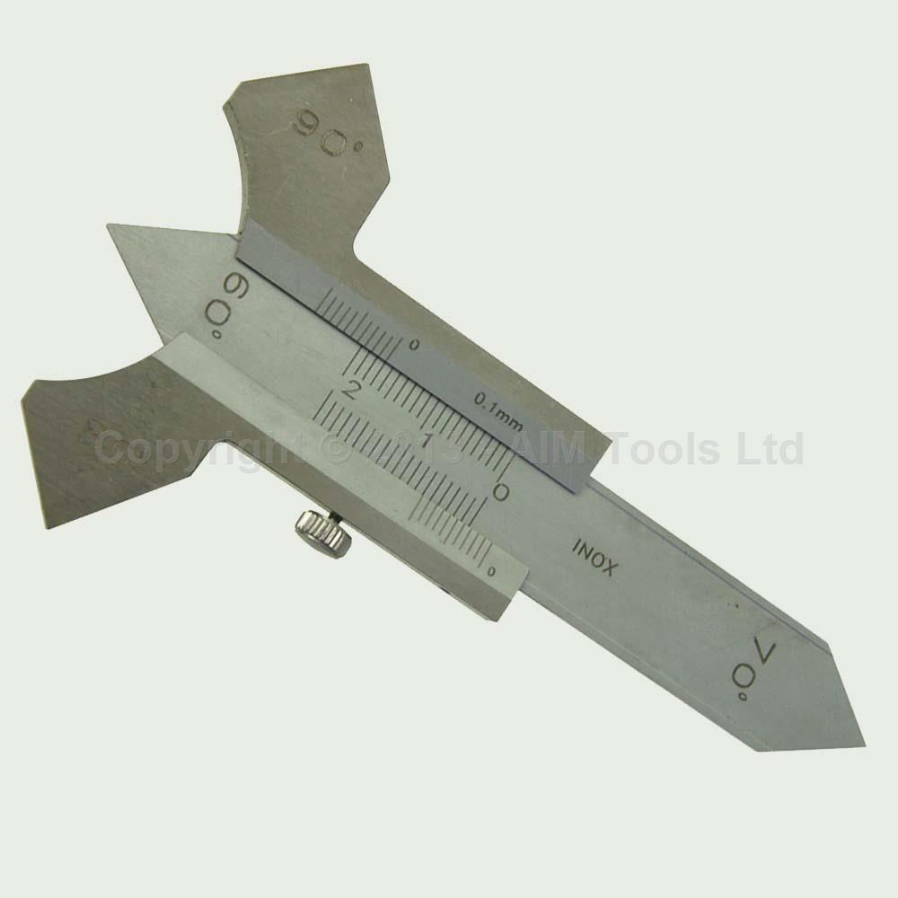 Welding Gauge Micrometer For Boilers Pipes Tanks Weld Depth Testing 0 20 mm manual welding seam gauge weld inspection caliper gauges