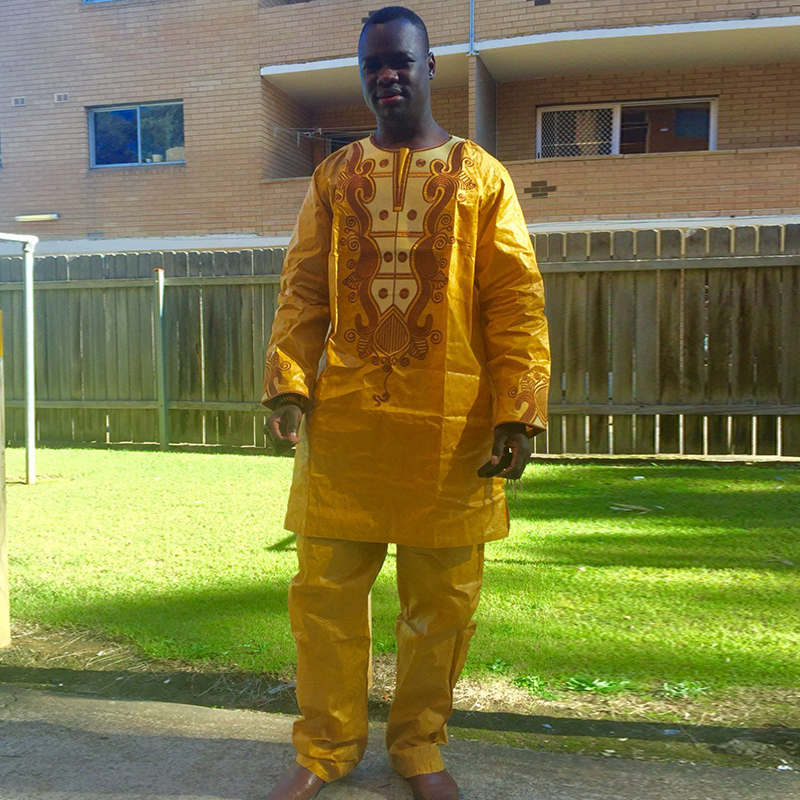 H   D hombres africanos tradicionales clothe fashion diseñadores africanos  bazin hombres bordado ropa Dashiki afrikanische herrenbecleidung 4e1ce649efa