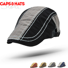2018 Jamont Newsboy Caps Stripe Design England Style Mens Caps For Beret  Womens Hats 0a354ca0edfa