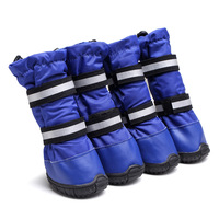 Tall Waterproof Oxford Cloth Dog Shoes 4pcs/set Footwear High Quality with Reflective Boots Pet Products Dog Clothes Shoes
