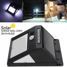 4W 3.7V 20+5+5 LED 3 Modes Human Body Sensing Wall Light Bulb IP-4 Solar Sensor Corridor Light for Garden Outdoor Courtyard