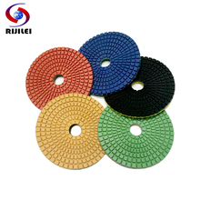 4DS3 Wholesale  4 30# -3000# Wet Polishing Pads/Fan-shaped marble or Trapezoid Teeth Flexible polishing pads+10Pcs/Lot