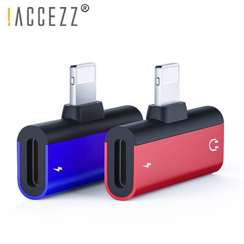 !ACCEZZ Phone Adapter 2 In 1 Charging Audio Calling For Apple Iphone X 8 XS MAX XR Lighting Charge Jack To Earphone AUX Splitter