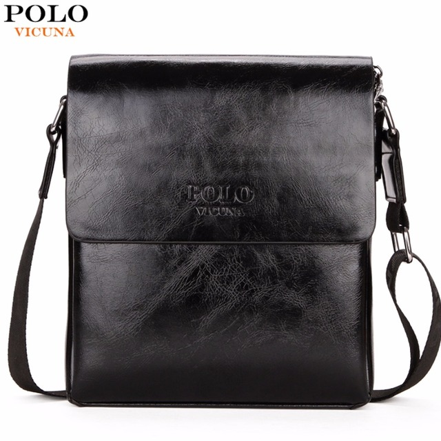 VICUNA POLO High Quality Waxy PU Leather Mens Messenger Bags Famous Brand  Casual Business Man Bag Men Shoulder Bag Crossbody Bag 3a93569b64