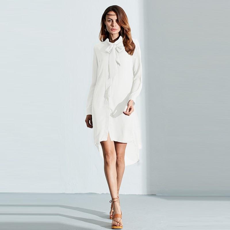 HTB1Zhz1PVXXXXb5XpXXq6xXFXXXu - Women Shirt Vestido Bow Long Sleeve Casual Amsymetircal Chiffon