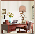 Bird desk lamp retro hotel rooms wrought iron study European creative personality table lamp
