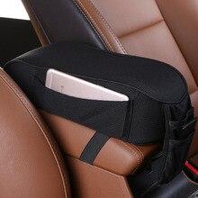 Cojín reposabrazos Universal para coche, almohada para descansar brazo con soporte para teléfono, bolsa de almacenamiento