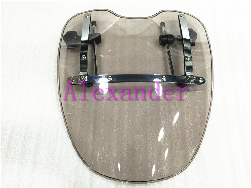 Free Shipping Brand New Motorcycle Windshield Windscreen for Harley Davidson Sportster Dyna Glide Softail XL 883 1200 Smoke xl 25mm scrambler handlebar retro style drag cross bar drilled hole for harley sportster xl iron 883 1200 dyna wide glide cruiser