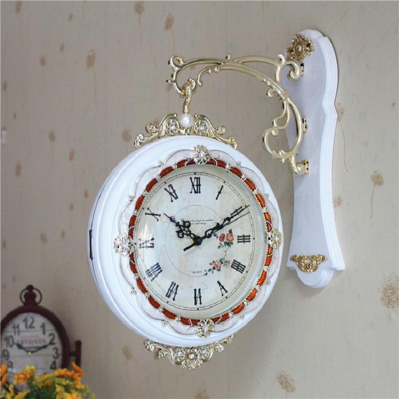 Horloge murale Double face Design moderne Pow patrouille deux côtés Quartz horloge De salon Relogio De Parede horloges De chambre 50ZB237