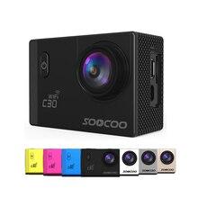 Soocoo c30/c30r 4К спорт камера wifi гироскопа регулируемые углы обзора (70-170 градусов) ntk96660 30 м водонепроницаемый действий камеры спорт камера экшен-камера