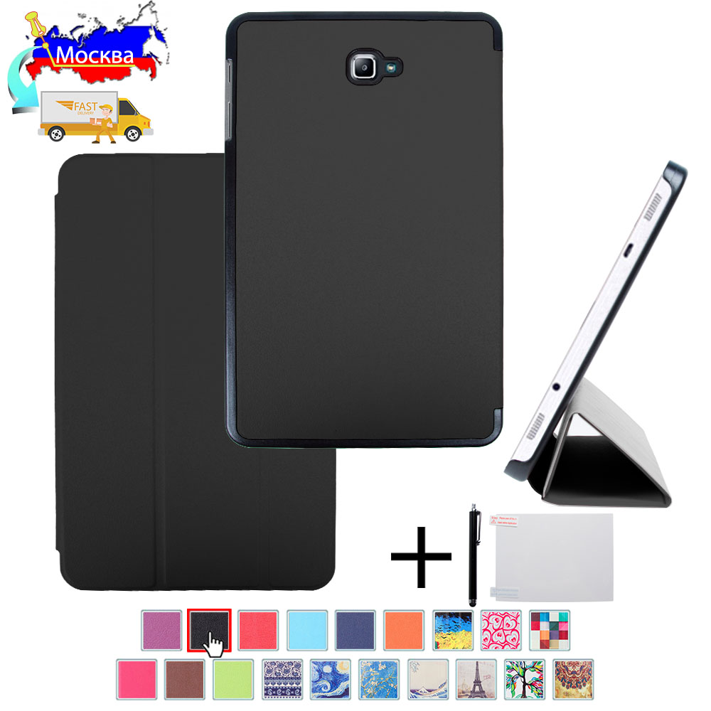 Slim case for Samsung <font><b>Galaxy</b></font> <font><b>Tab</b></font> A 10.1 2016 <font><b>T580</b></font> T585 Magnetic folio cover for Samsung <font><b>Galaxy</b></font> <font><b>Tab</b></font> A6 10.1 <font><b>SM</b></font>-<font><b>T580</b></font> <font><b>SM</b></font>-T585 case image