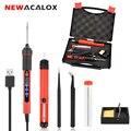 NEWACALOX USB 5 В 2A 10 Вт Цифровой, температурный Регулируемый паяльник Комплект портативные бессвинцовые сварочные работы станция с переключател...