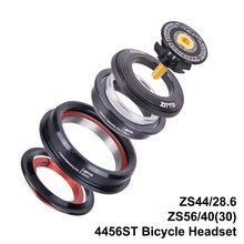 MTB Bike Road Bicycle Tapered Headset 44mm 56mm CNC 1 1/8-1 1/2 Tube Fork Integrated Angular Contact Bearing 4456ST
