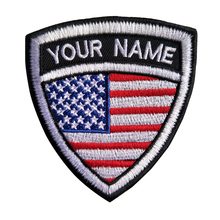 Custom Embroidery Usa America Name Patch, 2 pcs Personalized Military  Number Tag Customized Logo ID For Multiple Clothing Bag