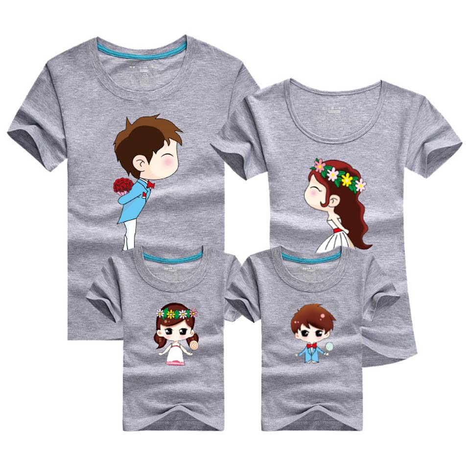 2018 New T shirt Mom and Daughter Parent Kid Look 14 Colors T Shirts Summer Fath