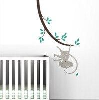 ホット販売猿上支店保育園ルームウォールステッカーdiyキッズ赤ちゃんの寝室の装飾ステッカー猿ツリー壁の装飾ポスターNY-205