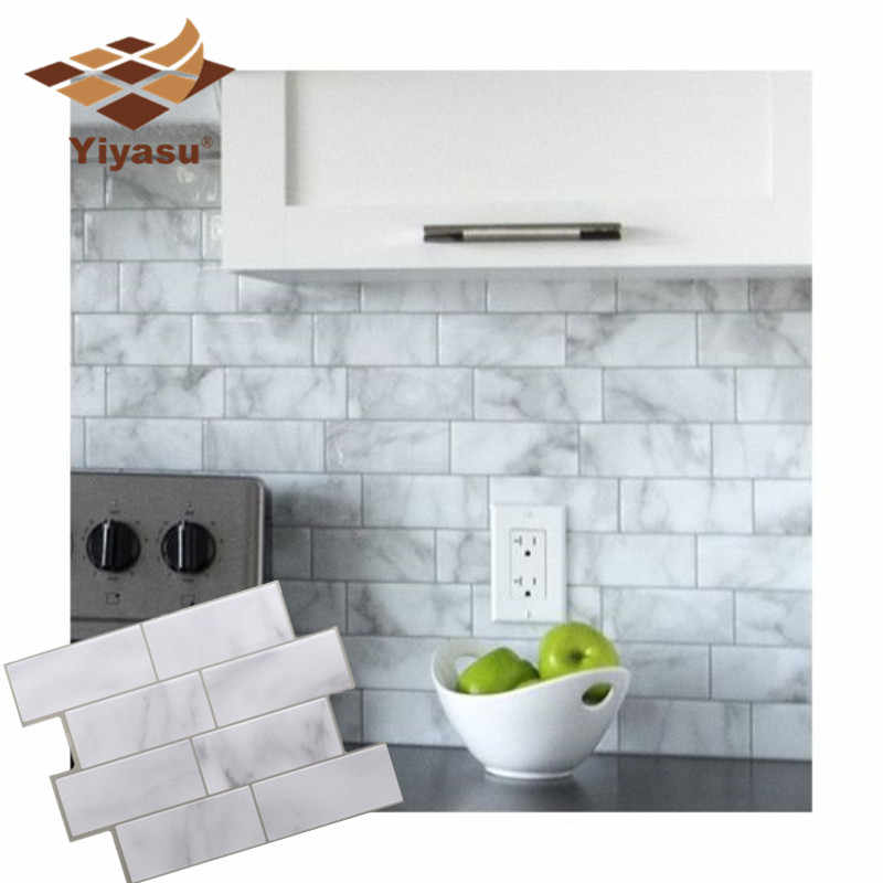 Wondrous 3D White Grey Marble Mosaic Peel And Stick Wall Tile Self Home Remodeling Inspirations Basidirectenergyitoicom