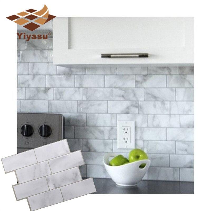 Mosaico de mármol gris blanco 3D pelar y pegar azulejo de pared autoadhesivo Backsplash cocina baño hogar pared pegatina adhesiva vinilo UE/WiFi inteligente pared luz Dimmer interruptor regulador de vida inteligente/Tuya Control remoto APP funciona con Alexa de Amazon y Google