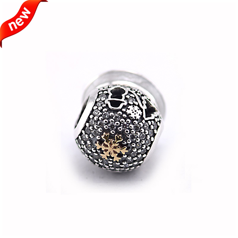 42d44595c DIY Fits For Pandora Bracelets Black Friday Charms with 14K Gold Plated 100%  925 Sterling Silver Beads Jewelry Free Shipping-in Beads from Jewelry ...