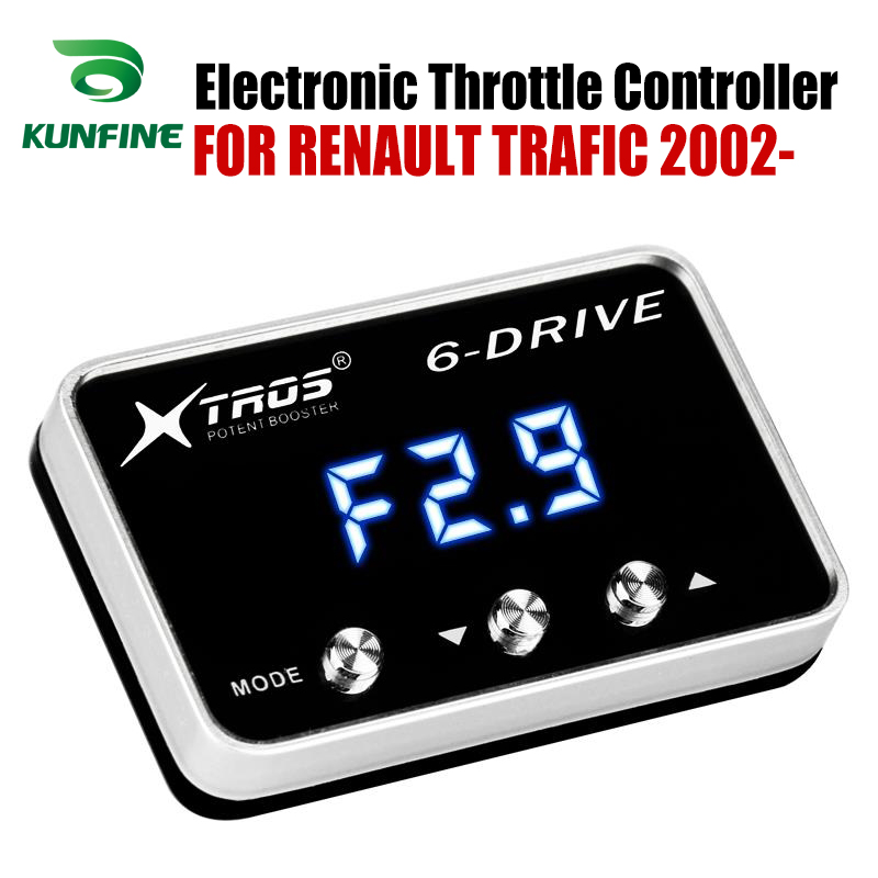 Car Electronic Throttle Controller Racing Accelerator Potent Booster For RENAULT TRAFIC 2002 2019 Tuning Parts Accessory Car Electronic Throttle Controller     - title=