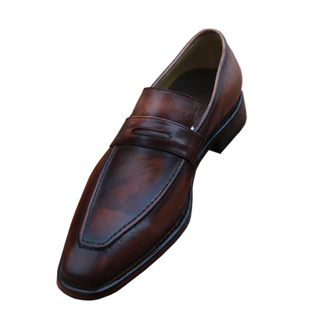 518c884a81381 ... Sipriks Mens Moccasin Patina Business Formal Shoes Slip On Dress Shoes  Italian Custom Goodyear Welted Loafers ...