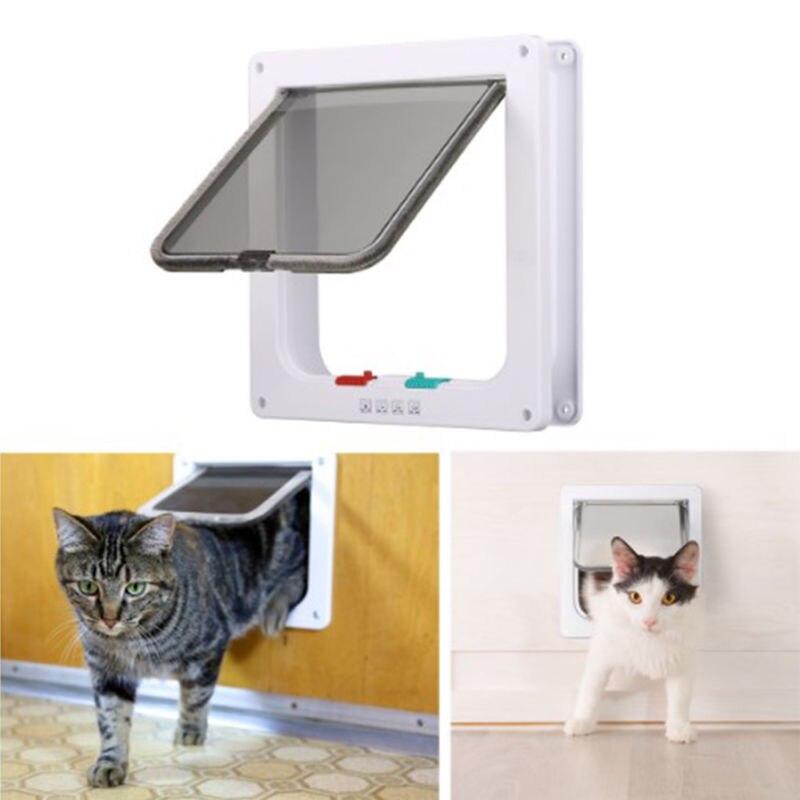 Cat Mate 4 Way Locking Large Cat Small Dog Flap White Catflap Pet Door 221 US