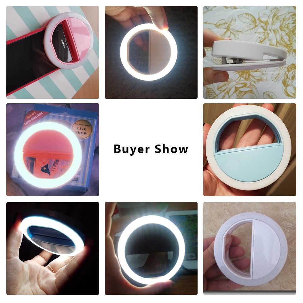 Đa năng Selfie LED Vòng Đèn LED Di Động Điện Thoại Di Động 36 ĐÈN LED Selfie Đèn Dạ Quang Vòng Kẹp Cho iPhone 8 7 6 Plus Samsung