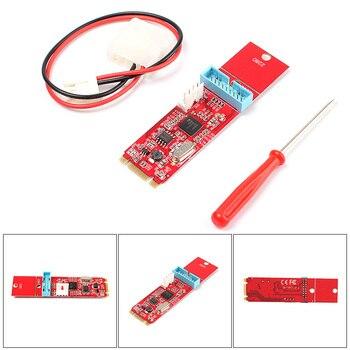 1 Порты и разъёмы 19pin 20pin USB3.0 Женский к NGFF M.2 b + M ключ Мужской адаптер конвертер карты #74777
