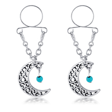 New Arrival Sexy Non Pierced Nipple Piercing Rings Moon Clip On