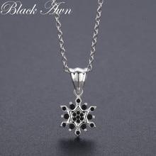 Романтическое прибытие 2,9 г 925 пробы Серебряное ювелирное изделие Трендовое цветочное обручальное ожерелье и кулоны для женщин P191