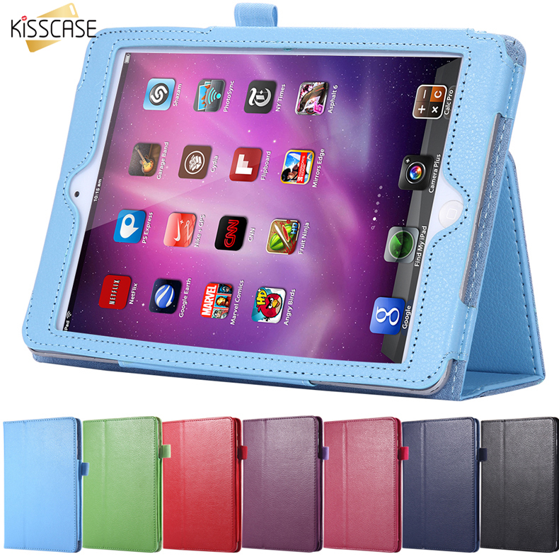 KISSCASE Flip Stand Leather Case For iPad 2 3 4 Capa Fashion Wallet Lychee Book Style Flexible Smart Stand Covers For iPad 4 3 2 lychee texture pu leather magnetic flip pouch protective case for ipad mini 2 3 white