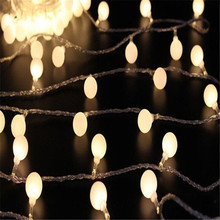 2016 Hot selling 10M led string lights with 80led ball AC220V holiday decoration lamp Festival Christmas lights Outdoor lighting