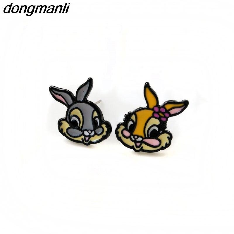 P1248 Dongmanli 2017 Cartoon animal bunnies Earring Fashion