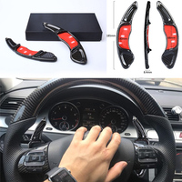 DEE Accessoy for Volkswagen VW Golf 7 GTI MK7 R Scirocco 2016 Car Steering Wheel Extension Carbon Fiber Interior Paddle Shifter